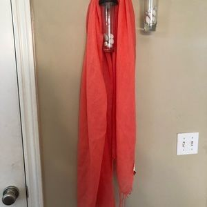 H&M coral colored scarf